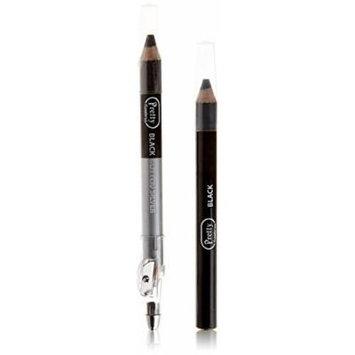 Pretty Flawless 3 in 1 Eyeshadow Pencils Black Glitter, Silver & Black
