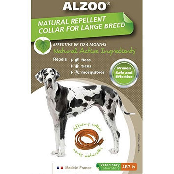 Alzoo Natural Repellant Flea and Tick Collar for Large Breeds 1 count Box