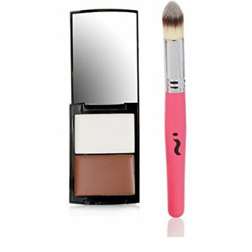 Skinn Cosmetics Contour Highlighting & Sculpting Shading Palette with Blending Brush Collection