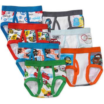 Disney Toddler Boy Cars Favorite Characters Underwear, 7-Pack