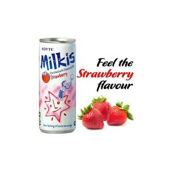 Lotte Milkis Soft Soda Variety Favor Combo (Strawberry, Pack of 12)