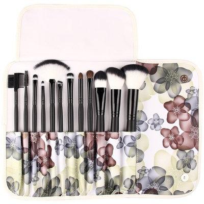 UNIMEIX Makeup Brushes 12 Pieces Synthetic Makeup Brush Set Foundatipn Powder Concealer Blending Eyeshadow Brush With Flora Leather Bag