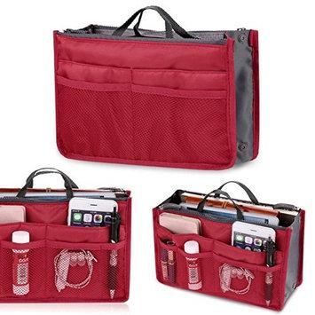 Dtemple Multifunctional Cosmetic Makeup Organizer Bag Insert Multi-Pocket Travel Tidy Toiletry Organizer Handbag