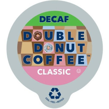 Double Donut, Decaf Classic Coffee in Recyclable Single Serve Cups, 24 Ct