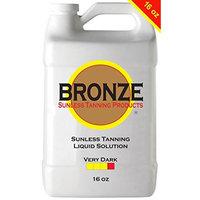 BRONZE - VERY DARK - 16 oz - Best Sunless Self Tanning Liquid Spray Tan Solution for Airbrush Spray Tanning Machine - Best Sunless Self Tanning Liquid Spray Tan Solution, Foam Mousse, Lotion, Tanner