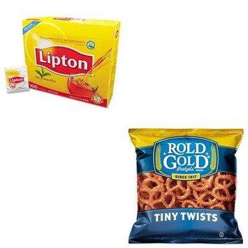 KITLAY32430LIP291 - Value Kit - Frito-lay, Inc. Tiny Twists Pretzels (LAY32430) and Lipton Tea Bags (LIP291)