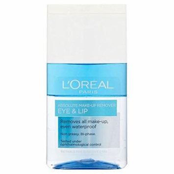 L'Oréal Paris Dermo-Expertise Absolute Eye & Lip Make Up Remover (125ml) - Pack of 6