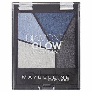 Maybelline Eye Studio Diamond Glow Eye Shadow Quad - 01 Blue Drama - Pack of 6