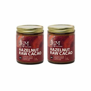 Jem Raw, Vegan, Organic Chocolate HazelnutButter Spread 6 oz (2 pack)