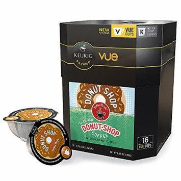Coffee People Donut Shop Coffee Vue Packs, 0.4 Oz., Box Of 16