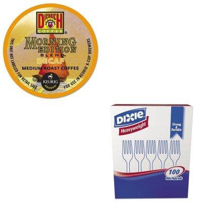 KITDXEFH207GMT6744 - Value Kit - Green Mountain Coffee Roasters Morning Edition Decaf Coffee K-Cups (GMT6744) and Dixie Plastic Cutlery (DXEFH207)