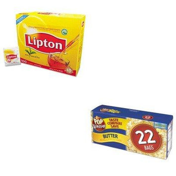 KITLIP291OFX105510 - Value Kit - Office Snax Microwave Popcorn (OFX105510) and Lipton Tea Bags (LIP291)