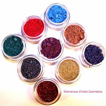 Glamorous Chicks Cosmetics-9 best selling eye shadow samples