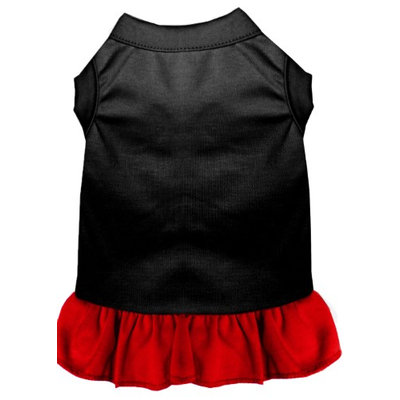 Mirage Pet Products 5900 XLBKRD Plain Dress Black with Red XL 16
