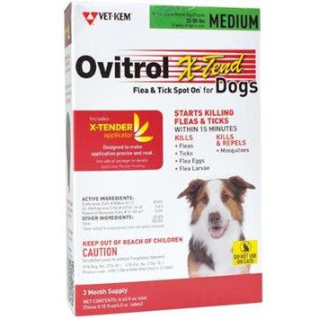 Ovitrol X-Tend Flea & Tick Spot On for Medium Dogs (32-55 lbs) [Options : 3 MONTH]