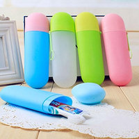 DZT1968 Portable Travel Toothbrush Storage Box Protective Cover Camping Travel Kit