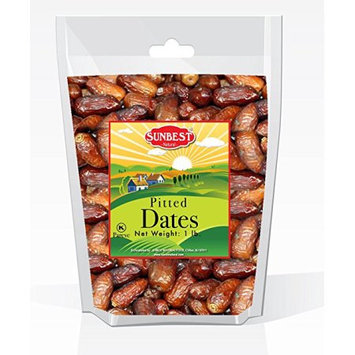 SUNBEST Dried Pitted Dates in Resealable Bag (1 LBS)