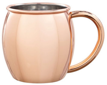 Sharper Image Mug Moscow Mule Copper Plated 16 oz. Stainless Steel 2 pk