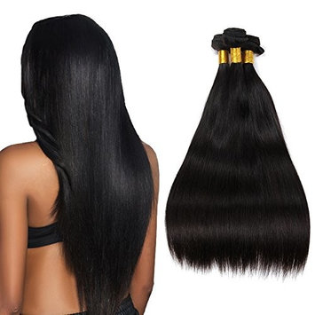 SiSiShow 8A Brazilian Virgin Hair 100% Unprocessed Remy Hair 3 Bundles Straight Hair Weft Extension with Nature Color