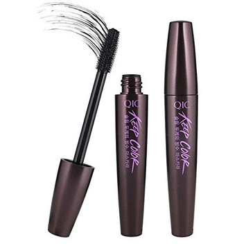 Mascara Black Waterproof Long Lasting 3D Fiber Eyelash Extension with Silicone Brush Curling Thick Lengthening Natural for Makeup Cosmetic Beauty