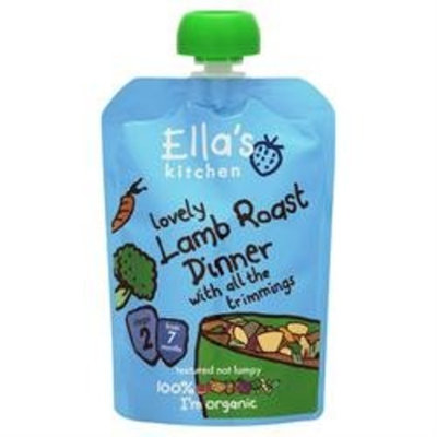 Ella's Kitchen - Stage 2 Baby Food - Lamb Roast Dinner - 130g
