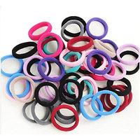 50PCS Baby Kids Children Girl Nylon High Elastic Thick Ponytail Holder Stretch Hair Tie Hair Rope Hair Band Hair Ring
