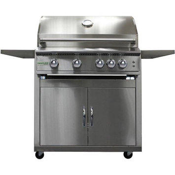 Hanover Grills 40-In. 5-Burner Liquid Propane Grill with Cart