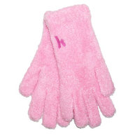 Minx NY Womens Argan Oil Infused Moisturizing Chenille Gloves, Pink
