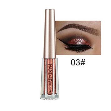 JaneDream 12 Color 3ML Waterproof Diamond Pearlescent Shiny Liquid Smoky Eyeshadow Eyeliner Glitter Eye Makeup 3#