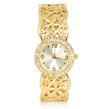 Jaclyn Smith Goldtone Round Bracelet Watch
