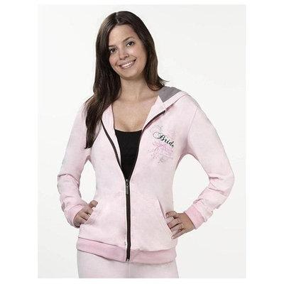 Large Pink Stylish Hooded Wedding Bride Sweat Jacket