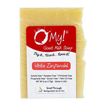 O My! White Zinfandel Goat Milk Soap - All Natural, Palm Oil Free, Handmade Soap Made in USA