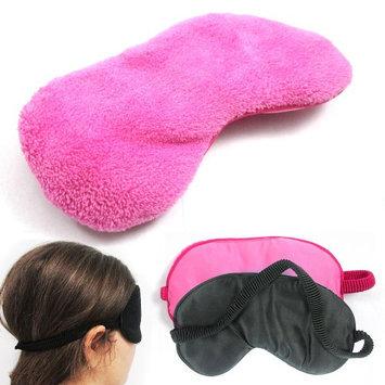 Atb 2 Plush Sleep Eye Mask Silk Travel Shades Blindfold Sleeping Cover Pink Black!