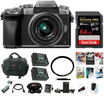 Panasonic LUMIX G7 Camera with 14-42mm Lens (Silver) Professional Photography Bundle
