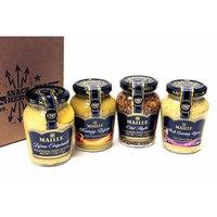 NEW! Maille Dijon Mustards 4 -Flavor Variety: Dijon Original, Honey Dijon, Old Style Whole Grain Dijon, Rich Country Dijon