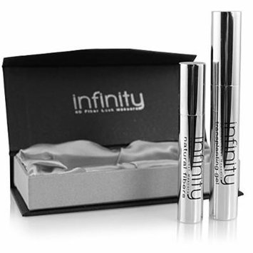 3D Fiber Mascara by Lash Factory - Infinity 3D Fiber Lashes. Waterproof & Volumizing, Simply The Best 3D Lashes, Unique Formula For Your Makeup Kit. Black, Smudge Proof, Hypoallergenic, Lasts All Day.