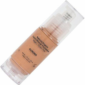 Foundation Makeup Full Coverage Liquid Mineral Matte Foundation, Best Cover for Acne, Great for Oily Skin, Organic with Cream Texture, Rewind Aging Skin with Long Lasting Results - Almond