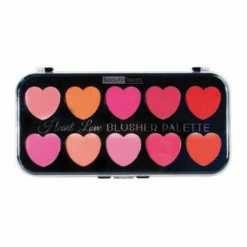 (3 Pack) BEAUTY TREATS Heart Love Blusher Palette - 10 Blushes