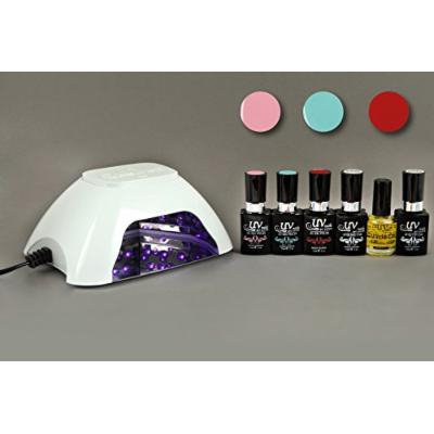 UV-Nails UV Lamp and Gel Polish 6-Piece Set, Candilicious