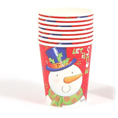 DDI 2127519 Let It Snow Printed Cups - Case of 36