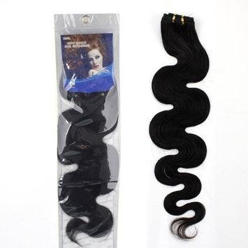 10-28 inch 100% RAW Virgin Brazilian Remy Human Hair Extensions Wavy Weave Weft Bundle #1B (12