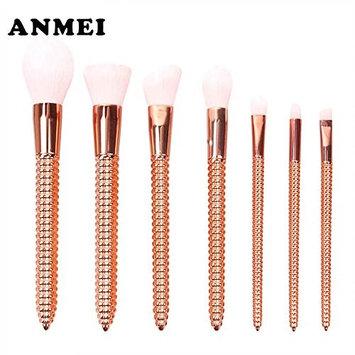7 Pcs Gold Makeup Brushes Set Corn Shape Plastic Handle Cosmetics maquillaje Makeup Tool Powder Eyeshadow Cosmetic Set