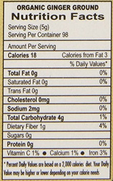 Jiva Organics USDA Organic Ginger Powder, 1 Pound