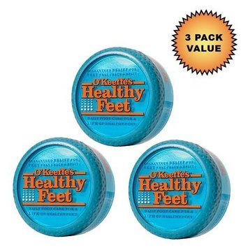 O'Keeffe's for Healthy Feet Foot Cream, 3.2 oz, Jar, (Pack of 3)