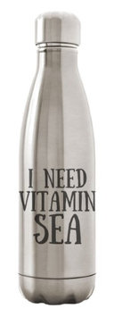 Custom Apparel R Us Stainless Steel Water Bottle Double Wall Vacuum Insulated 17 oz I Need Vitamin Sea