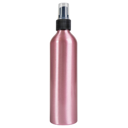 SHANY Stylist's Choice Pink Aluminum Empty Bottle with Spray Attachment - 8 oz