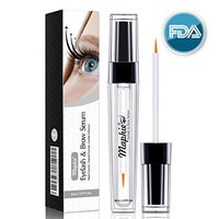 Natural Eyelash & Brow Growth Serum(8ml)- Enhancing Lash Boost Serum to Grow Thicker Longer Lashes - Nourished Lush Eyelash Conditioner-Irritation Free Formula