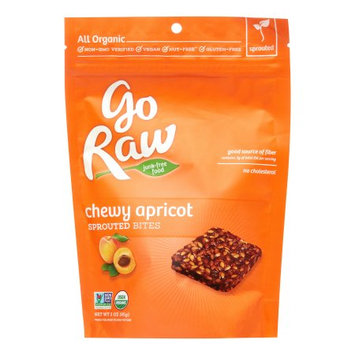 Go Raw Organic Fruit Snacks, Chewy Apricot Sprouted Bites, 3 Oz