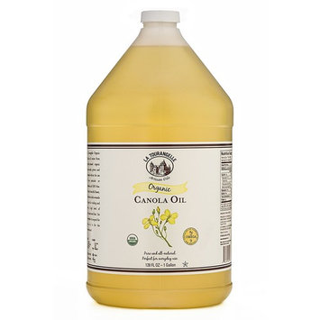 La Tourangelle Organic Canola Oil 128 Fl. Oz, All-Natural, Artisanal, Great for Cooking and Baking or as a Base for Marinade