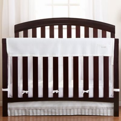 Breathable Baby RailGuard; Plus Rail Cover & Liner in White